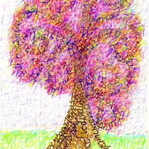 And You Shall Love -Spring, Seasons of the Tree f Life, Deuteronomy 6:5-9, Vahavta, Ungraven Image art works by Judy Rey Wasserman