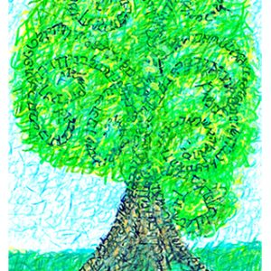 And You Shall Love... - Summer, Seasons of the Tree of Life. Strokes are the original Hebrew letters of Deuteronomy 6:5-9. Ungraven Image.