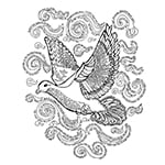 Psalm 139 Dove coloring page by Judy Rey Wasserman